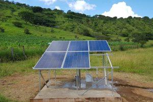 Sistema de bombeo solar 5 paneles solares